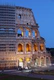 Särskild sikt av Colosseumen i processen av återställande. Royaltyfri Fotografi