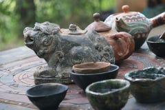 Särskild teauppsättning Fotografering för Bildbyråer