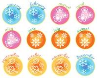 säsong för fyra symboler Royaltyfri Foto