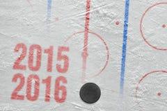 Säsong för hockey 2015-2016 av året Royaltyfri Fotografi