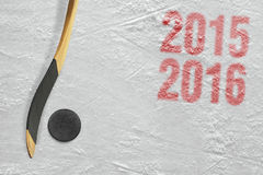 Säsong för hockey 2015-2016 av året Royaltyfri Foto