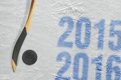 Säsong för hockey 2015-2016 av året Fotografering för Bildbyråer