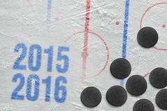Säsong för hockey 2015-2016 av året Arkivfoto