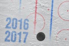 Säsong för hockey 2016-2017 av året Royaltyfri Bild