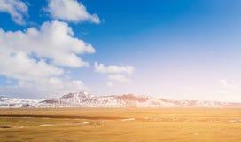 Säsong för Island bergvinter Arkivfoto