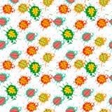 Säsong för nedgång för Autumn Seamless Pattern Background Colorful sidaprydnad Royaltyfri Fotografi