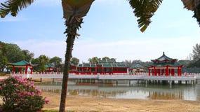 Säsong för pilgrimsfärd för Kusu ö, Singapore (Oktober, 2 2016) - årlig - Tua Pek Kong Temple Arkivbilder