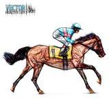 säsong tyrol för hinder för merano för maia för 2009 för häckhippodromehäst hopp för jockey mästare nordlig pyatigorsk tävlings-  Arkivfoto