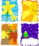 säsonger vektor illustrationer