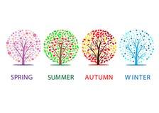 säsonger Arkivbilder