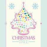 Säsonghälsning av julgranen Royaltyfri Bild