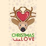 Säsonghälsningen av jul är förälskelse Arkivfoto