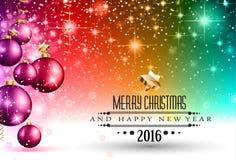 Säsongsbetonad bakgrund för glad jul för dina hälsningkort Arkivbilder