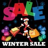 Säsongsbetonad försäljning för vinter Arkivfoto