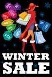 Säsongsbetonad försäljning för vinter Arkivbilder