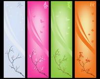 säsongsbetonad garnering royaltyfri illustrationer