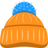 Säsongsbetonad hatt för vinter också vektor för coreldrawillustration Arkivbilder