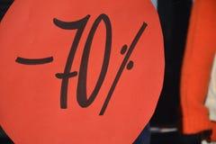 Säsongsbetonad rabatt 70 procent Royaltyfria Foton