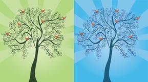 säsongsbetonad tree Arkivfoton