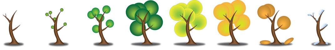 säsongsbetonad tree Fotografering för Bildbyråer