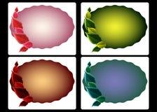 säsongsbetonade etiketter för färg Arkivfoto