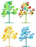 säsongsbetonade trees Arkivbild