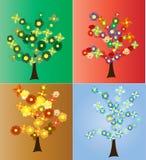 Säsongsbetonade trees Arkivfoton