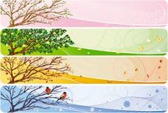 säsongsbetonat baner Arkivbilder