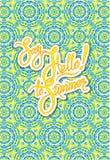 Säsongsbetonat hälsningkort med dekorativ ljus bakgrund Royaltyfria Foton