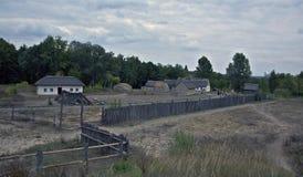 Säteri med en borggård på museet Pirogovo Arkivbild