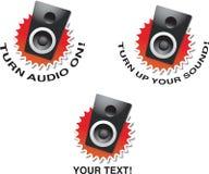 sätt ljudet Arkivbilder