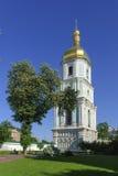 Sätta en klocka på står hög av domkyrka för St. Sophia Arkivbild