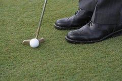 sätta för golfare Fotografering för Bildbyråer