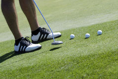 sätta för golfare Arkivfoto