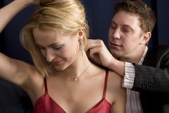 sätta för halsband royaltyfri foto