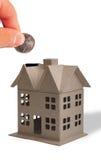 sätta för huspengar Royaltyfri Fotografi