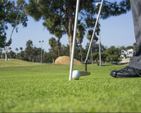 Sätta och golfare Royaltyfria Bilder