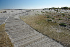 sätta på land boardwalken Royaltyfria Bilder