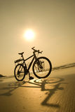 sätta på land cykeln royaltyfria foton
