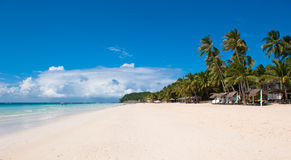 sätta på land den boracay ön vita philippines Royaltyfri Fotografi