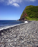 sätta på land den hawaii ömaui pebblen Arkivfoto