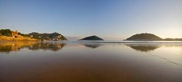 sätta på land det cantabrian conchadonostia havet Royaltyfri Fotografi
