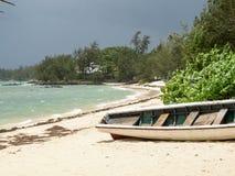 sätta på land för det mexico Quintana Roo för fartyget den karibiska tulumen yucatan havet Fotografering för Bildbyråer