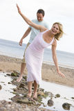 sätta på land gå för stenar för par le Royaltyfria Foton