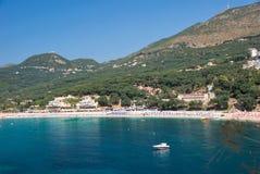 sätta på land greece Arkivbilder