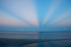 sätta på land gryning Fort Myers Arkivbild