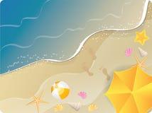 Havstrandbaner stock illustrationer