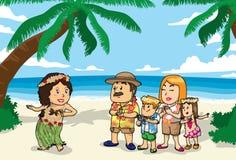 sätta på land hawaii Fotografering för Bildbyråer