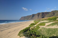sätta på land hawaii kauai polihale Arkivfoto