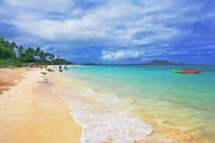 sätta på land hawaiibon arkivbilder